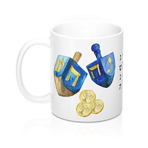 Nat999Lily Dreidel Game Dreidel Rules Dreidel Mug Hanukkah Mug Chanukah Mug Jewish Holiday Mug Jewish Gift Under 20