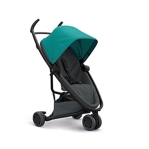 Quinny Zapp Flex Stylischer Komfort-Drei Räder Buggy, mit vielen Extras, leicht, kompakt faltbar, ab der Geburt nutzbar, green on graphite