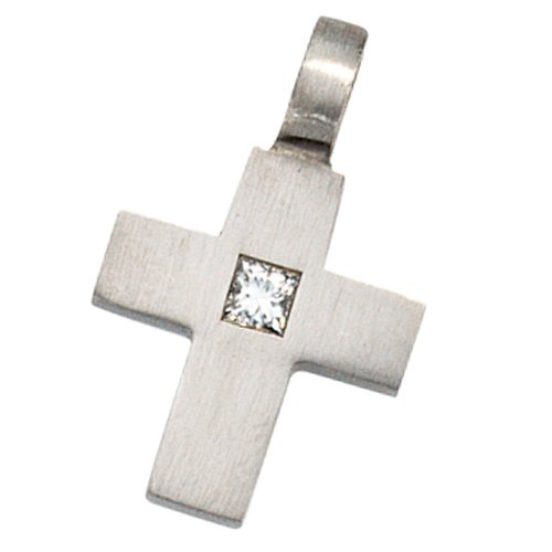 JOBO Anhänger Kreuz 950 Platin 1 Diamant 0,06ct.