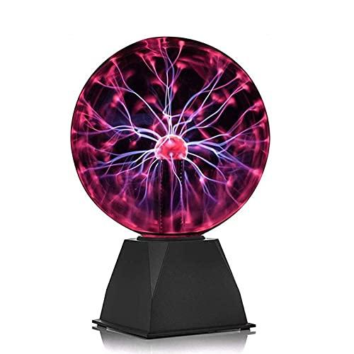 KANGDILE Lámpara de Bolas de Plasma, Carga USB Táctil y Sensible de Sonido Lámpara de Plasma interactiva Nebula Esfera Globo para Decoraciones Dormitorio (Size : 6inch)