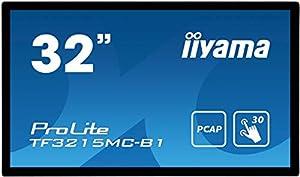 iiyama Prolite TF3215MC-B1 80 cm (31,5Zoll) AMVA3 LED-Monitor Full-HD Open Frame 30 Punkt Multitouch kapazitiv (VGA, HDMI, USB für Touch, 24/7, IP65, IK-7, Glare) schwarz