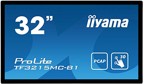 iiyama Prolite TF3215MC-B1 80 cm (32 Zoll) AMVA3 LED-Monitor Full-HD Open Frame 30 Punkt Multitouch kapazitiv (VGA, HDMI, USB für Touch, 24/7, IP65, IK-7, Glare) schwarz