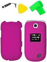 Phone Cover Case Cell Phone Accessory + Extreme Band + Stylus Pen + Yellow Pry Tool for LG Revere 3 VN170 / LG Envoy III UN170 (Pink)