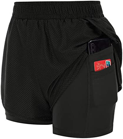 JACK SMITH Womens 2 in 1 Running Shorts Quick Drying Breathable Active Training Exercise Jogging product image