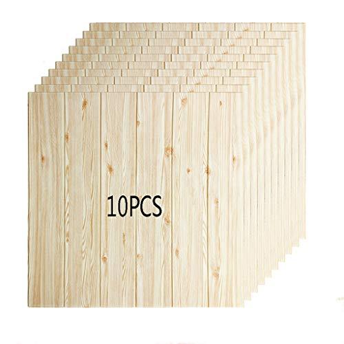 K&F-qianzhi Panel De Pared 3D Imitación De Madera Grano Revestimiento Ladrillo Panel De Fondo Panel De La Sala De Estar Cocina Cocina Decoración De La Pared 10 Paquetes