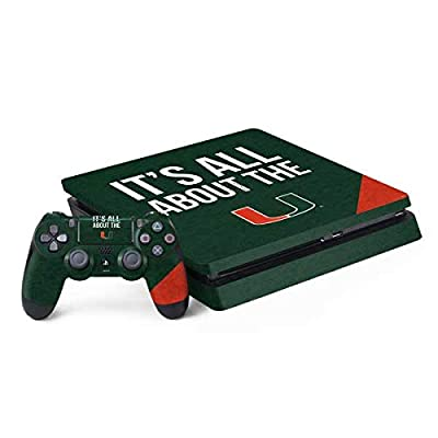 Skinit Decal Gaming Skin for PS4 Slim Bundle - Officially Licensed College All About The U Design