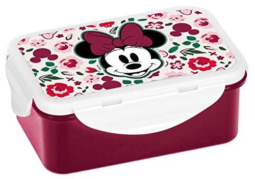 Disney Mickey & Minnie Kids Brotdose Klein Disney Minnie Kids, Fiambrera, Multicolor, 16 x 10,5 x 6,5 cm