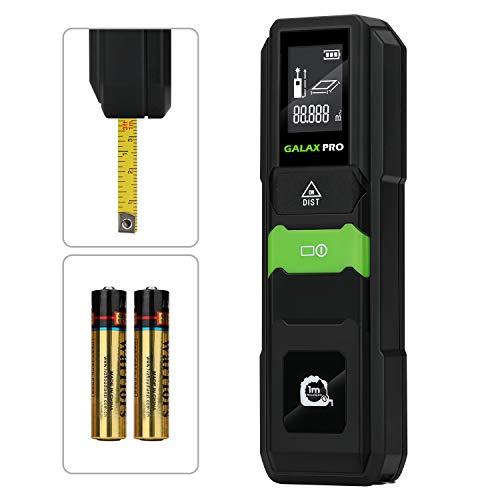 GALAX PRO Medidor Láser,Telémetro láser 40m, Precisión ±2 mm, LCD Retroiluminación, Medición de distancia, Área,Batería Incluida/MKL-C02