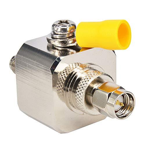 YILIANDUO SMA Koaxial Blitzschutz Überspannungsschutz SMA Stecker zu Buchse 50 Ohm 0-3GHz Coaxial Lightning Surge Protector für GSM 3G 4G LTE Wireless LAN WiFi Antenne
