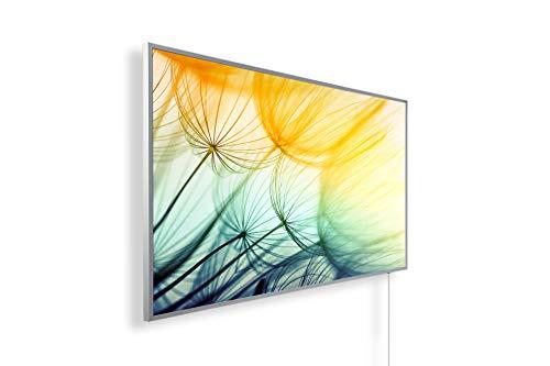 Bildheizung Infrarotheizung mit Digitalthermostat - 5 Jahre Herstellergarantie - - Heizt nach dem Prinzip der Sonne(Gänseblumen,800)
