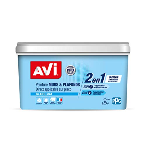 AVI Peinture Murs et Plafonds - Mat - 2,5 L