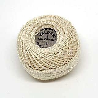Valdani Perle Cotton Size 8 Embroidery Thread, 72 Yard Ball - #5 Ecru