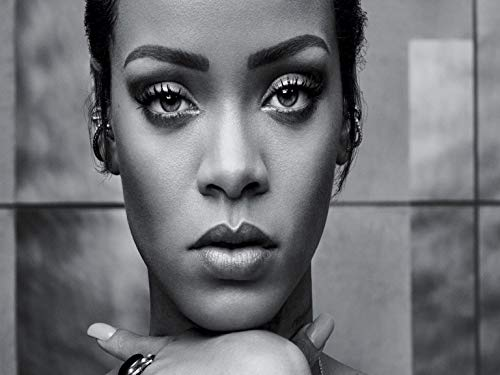Credence Collections Rihanna Stunning B&W HD Poster 12 x 16 Inch