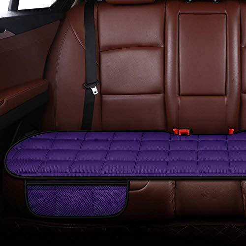 Autostoelkussen voor autobestuurder Bureaustoel, computerstoel met antislipbodem Geheugen Carbon zitkussen (paars, 1 achter)
