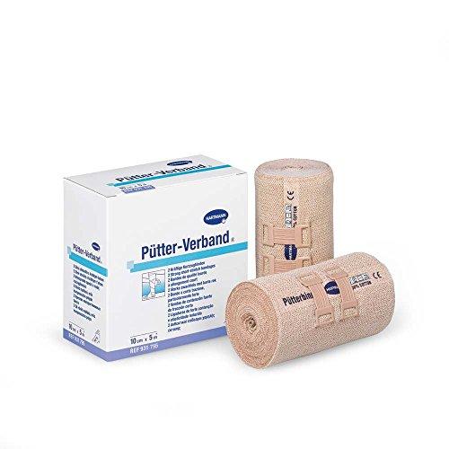 Pütter-Verband 10 cm, 2 Binden, elastische Fixierbinde