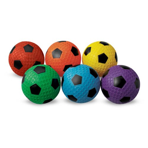 MAC-T PE07927E Dimple Soccer Balls, Assorted Colors, Set of 6