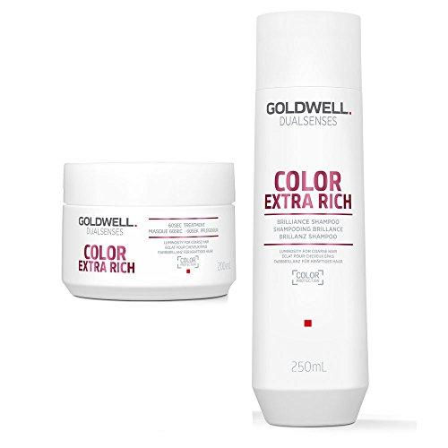 Dualsenses Dualsenses Couleur Extra riche de brillance Shampooing 250 ml et 60 secondes Traitement 200 ml