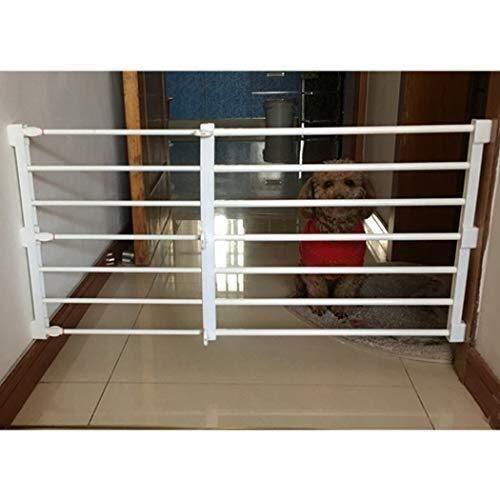 JNS Babysicherheitstür Baby-Tor versenkbare Tür Bar Blocking Hundepension Hunde Isolation Tür Hund Zaun Zaun Kleine Leitschiene Balkon Haustier Zaun (Color : High42cm, Size : 76-130cm)