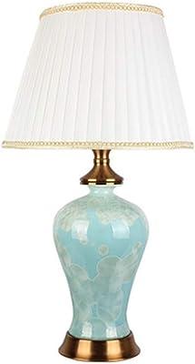 H Teal Ceramic Table Lamp Tucson 32 in