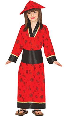 Guirca- Disfraz china roja, Talla 3-4 años (83280.0)