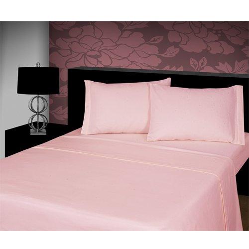 Tony's Textiles Lenzuolo Termico - 100% Flanella di Cotone Pettinato - con Elastico - Rosa - Una Piazza e Mezza UK