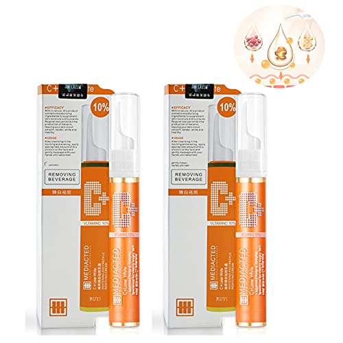 HHZZ 2PCS Instant Blemish Removal Gel, VC Whitening Freckle Serum Brighten Skin, Blemish Cream for Dark Spots Non-Irritating Facial Blemish Repair Cream