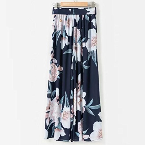 Spbamboo Clearance Sale Women Sexy High Waist Flower Print Floral Wide Leg Pants