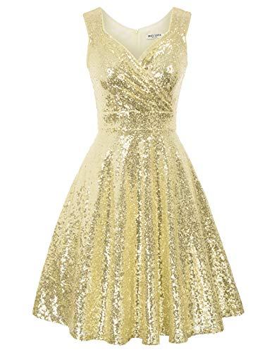 GRACE KARIN perlen Kleid 1950er Kleider Rockabilly Vintage Kleid Winter cocktailkleid CL1061-1 2XL