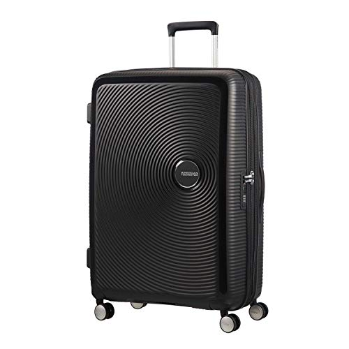 AMERICAN TOURISTER Soundbox - Spinner L Espandibile Bagaglio a Mano, Spinner L (77 cm - 110 L), Nero (Bass Black)