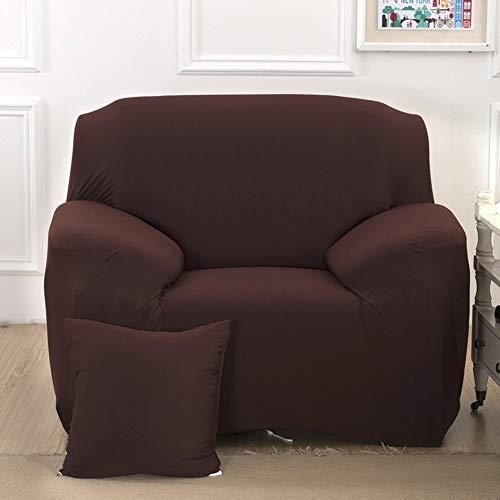 Funda para sofá Funda para 1234plazas sillón fácil elástico elástica Funda de Tela de sofá sofá Pantalla Color Puro, café, 1 Seater:90-140cm