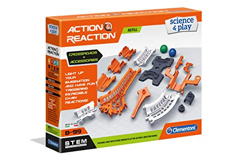 Accion Reaccion Clementoni- Action & Reaction Pista y Plataforma y Uniones (19167)