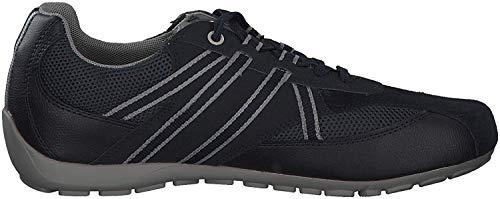 Geox RAVEX U923FB Herren Low-Top Sneaker,Männer Halbschuh,Sportschuh,Schnürschuh,atmungsaktiv,DUNKELBLAU,46