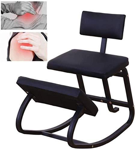 FACAIA Kneeling Chairs with Seat Position Correct Anti-Myopia Posture Kneeling Ergonomic Chair Back Stool Knee Rocking Kneeling Chair (Color : Orange)