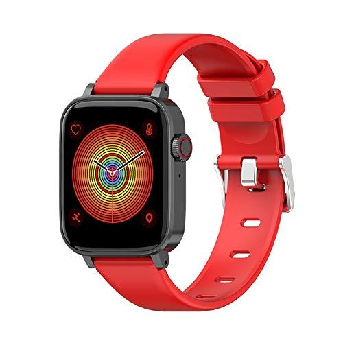 2020 Relojes Inteligentes para Hombres Y Mujeres, Llamada Bluetooth, Toque Completo Tipo De Corazón Saludable Presión Arterial Deportes Pulsera Impermeable,Rojo