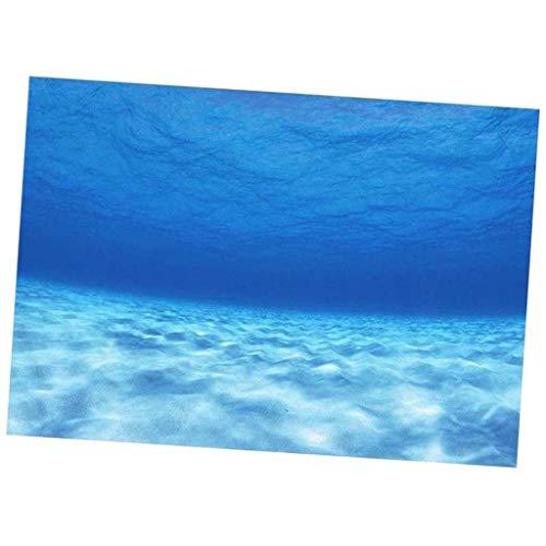 non-brand Sharplace Aquarium Autocollant de Poisson HD Océan Fond Affiche pour Reservoir de Poisson - #46 76x46cm