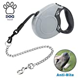 Idepet Heavy Duty <span class='highlight'>Retractable</span> <span class='highlight'><span class='highlight'>Dog</span></span> <span class='highlight'>Leash</span> <span class='highlight'>for</span> Small and Medium <span class='highlight'><span class='highlight'>Dog</span></span>s, Anti-Chewing Steel Chain Design,360°Tangle-Free,Break & Lock System,<span class='highlight'>16</span><span class='highlight'>ft</span> <span class='highlight'>Leash</span> <span class='highlight'>for</span> <span class='highlight'><span class='highlight'>Dog</span></span> <span class='highlight'>Walking</span>