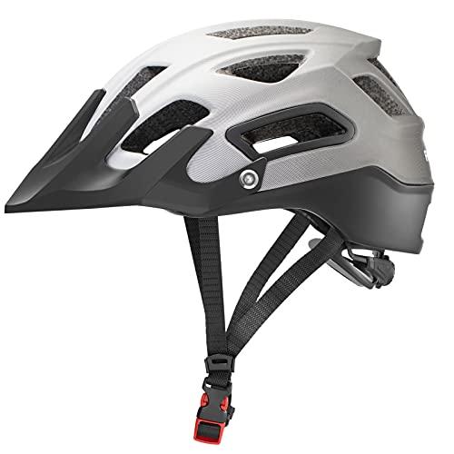 ROCKBROS(ロックブロス)自転車 ヘルメット 大人 ロードバイク MTB 衝撃吸収 通気性 超軽量 高剛性 サンシェード付き グラデーション おしゃれ M:54-58 L:58-61cm(ブラックxグレー、M)