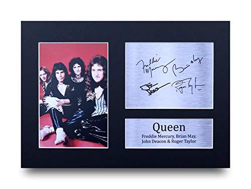 HWC Trading Queen A4 Ungerahmt Signiert Gedruckt Autogramme Bild Druck-Fotoanzeige Geschenk Für Musik-Fans