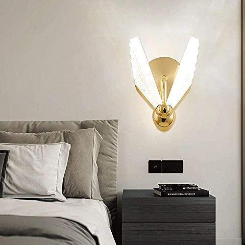 JPL Lámparas de novedad, aplique de pared LED moderno Siet, lámpara de pared de metal dorado con forma de mariposa, lámpara de pared de montaje empotrado en forma de mariposa, accesorios de iluminaci