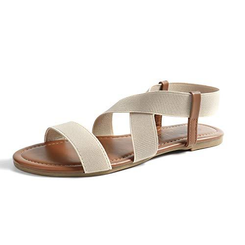 SANDALUP Neue elastische Sandalen für Damen Summer Neue Weiß 07