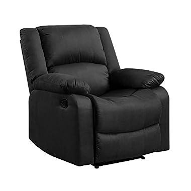 Pearington Lyon Microfiber Living Room Recliner Chair, Dark Gray
