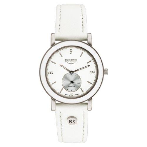 Bruno Söhnle Damen Analog Quarz Uhr mit Leder Armband 17-93140-991