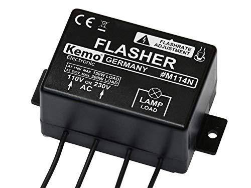 Kemo Blinker, langsam 240 V/AC, 110 V/AC M114N Spannungswandler