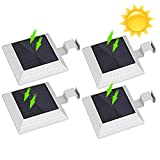 12 LED Solar Gutter Lights Outdoor, Yuan Xi Wireless Dark Sensor Lights, Waterproof Security Wall...