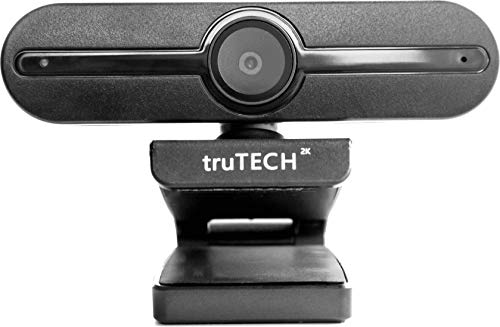 truTECH 2K MX-PRO 3 Webcam with Microphone with AUTO Focus and Zoom! Good for Streaming, Computer Desk top Gaming Camera. Works on PC Desktop Monitor, Podcast, Mac, HD Cam Recording Livestream Video