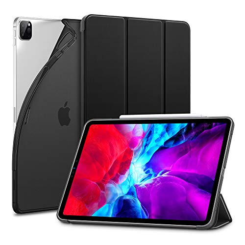 """ESR Custodia per iPad PRO 12.9"""" 2020, Cover con Retro Flessibile in TPU e Rivestimento gommato, Standby/Riattivazione Automatica, modalità di Visione/Digitazione per iPad PRO 12.9"""" 2020, Nero"""