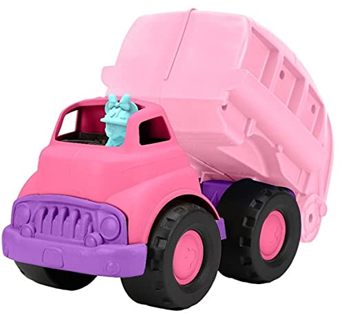 Green Toys Disney Baby Exclusive Minnie Mouse Recycling Truck - Pretend Play, Motor Skills, Kids Toy Vehicle. No BPA, phthalates, PVC. Dishwasher Safe, Recycled Plastic, Made in USA.