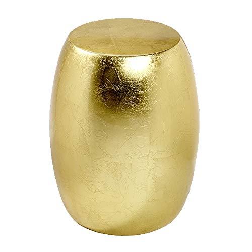 Lambert - Hocker, Beistelltisch - Keiko - Blattgold, Gold - Maße (ØxH): 40 x 51 cm