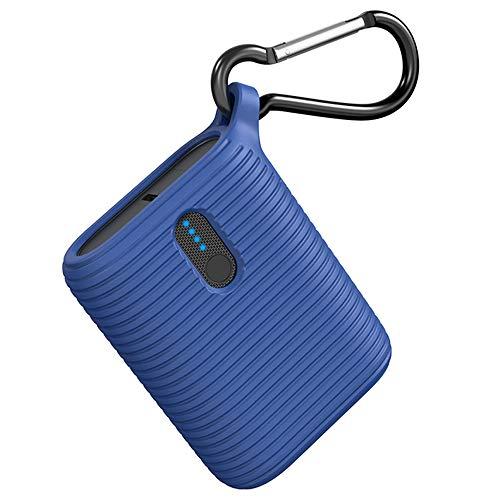 OUTXE Mini Powerbank 10000mAh, tragbares Ladegerät superleicht mit Zwei Ausgangsanschlüssen, leichtester ultrakompakter externer USB-C-Akku für iPhone, Samsung und mehr (Klassisches Blau)