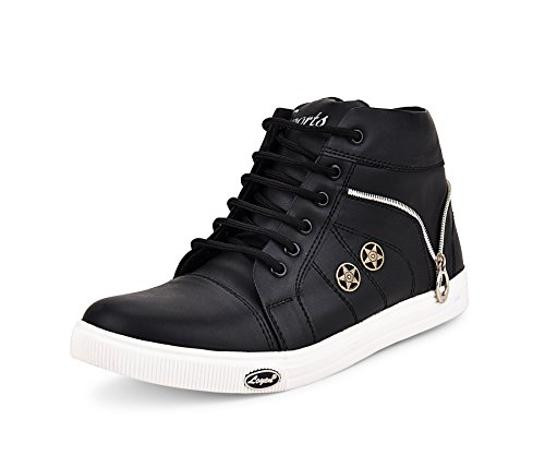 ESSENCE Men's Black VC 3101 High Top Shoes-7